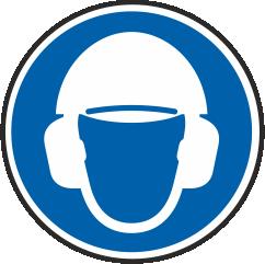 Kopf- und Gehörschutz benutzen
