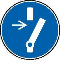 Vor Wartung oder Reparatur freischalten