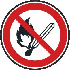 Keine offene Flamme