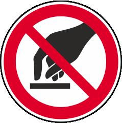 Berühren verboten