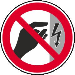 Nicht berühren Gehäuse unter Spannung